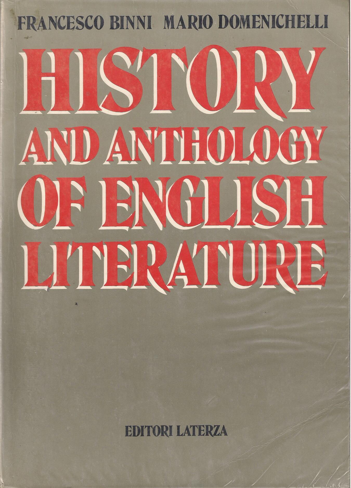 History and anthology of english literature. Per il triennio del Liceo scientifico