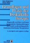 Grundlagen und Praxis der Dyskalkulietherapie