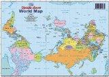 World Upside Down A4 Map