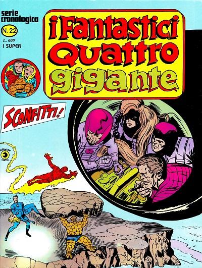 I Fantastici Quattro Gigante n. 22