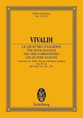 """The Four Seasons op. 8/1 RV 269/PV 241 -""""""""Spring E Major - violin, strings and basso continuo - study score - (ETP 1220)"""