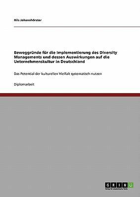 Beweggründe für die Implementierung des Diversity Managements.  Die Auswirkungen auf die Unternehmenskultur in Deutschland