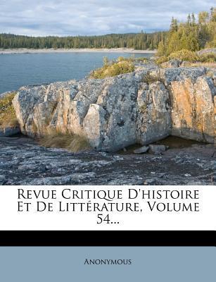 Revue Critique D'His...