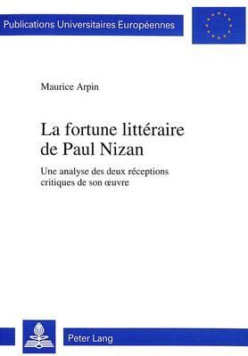 La fortune littéraire de Paul Nizan