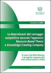 Le determinanti del vantaggio competitivo. L'approccio resource-based theory e knowledge-creating company