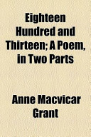 Eighteen Hundred and Thirteen; a Poem, in Two Parts
