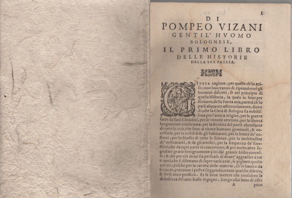 Di Pompeo Vizani gentil'huomo bolognese Diece libri delle historie della sua patria