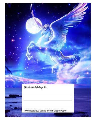 Graph Paper Workbook Magical Pegasus