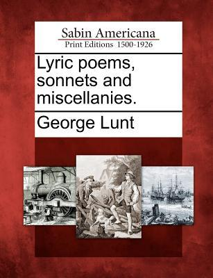 Lyric Poems, Sonnets and Miscellanies