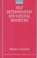Self Determination and National Minorities