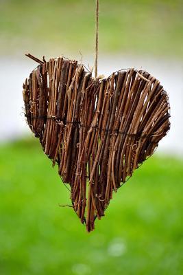 Handmade Woven Willow Heart Journal