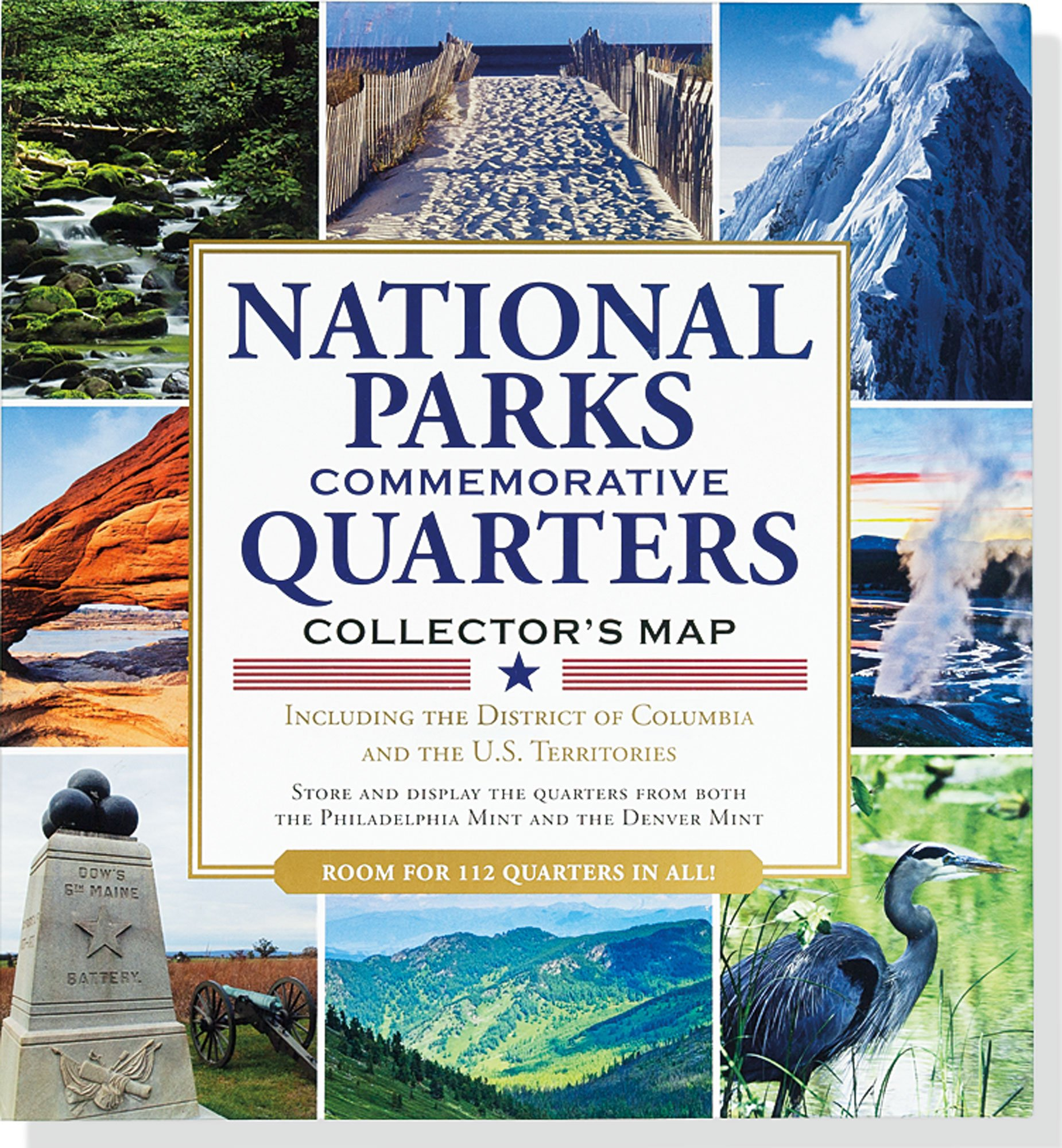 National Parks Commemorative Quarters Collector's Map 2010-2021