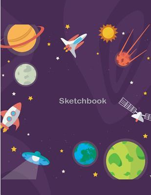 Cute Flat Cosmos Sketchbook