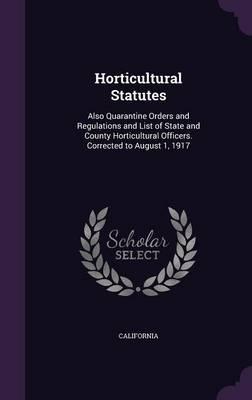 Horticultural Statutes