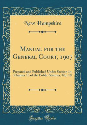 Manual for the General Court, 1907
