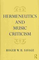 Hermeneutics and Music Criticism