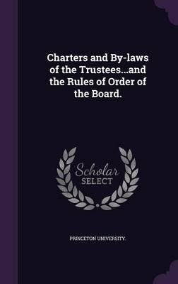 Charters and By-Laws...