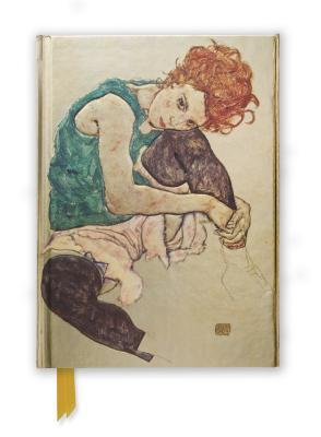 Seated Woman by Egon Schiele Foiled Journal