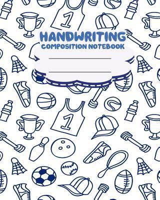 Handwriting Primary Composition Notebook, Cute Sport Doodles