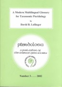 A Modern Multilingual Glossary for Taxonomic Pteridology
