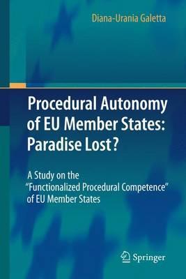 L'autonomia Procedurale Degli Stati Membri Dell'unione Europea
