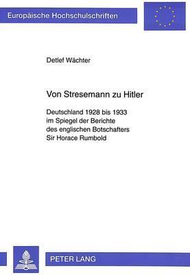 Von Stresemann zu Hitler