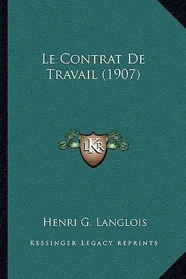 Le Contrat de Travail (1907)