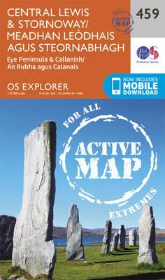 OS Explorer Map Active (459) Central Lewis and Stornaway/Meadhan Leodhais Agus Steornabhagh