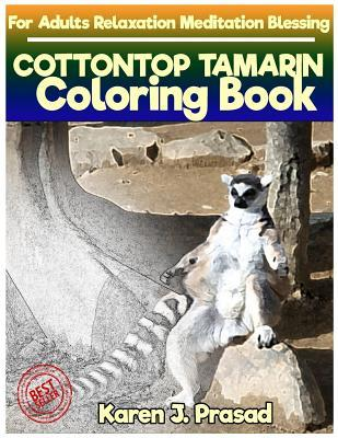 COTTONTOP TAMARIN Coloring book for Adults Relaxation  Meditation Blessing