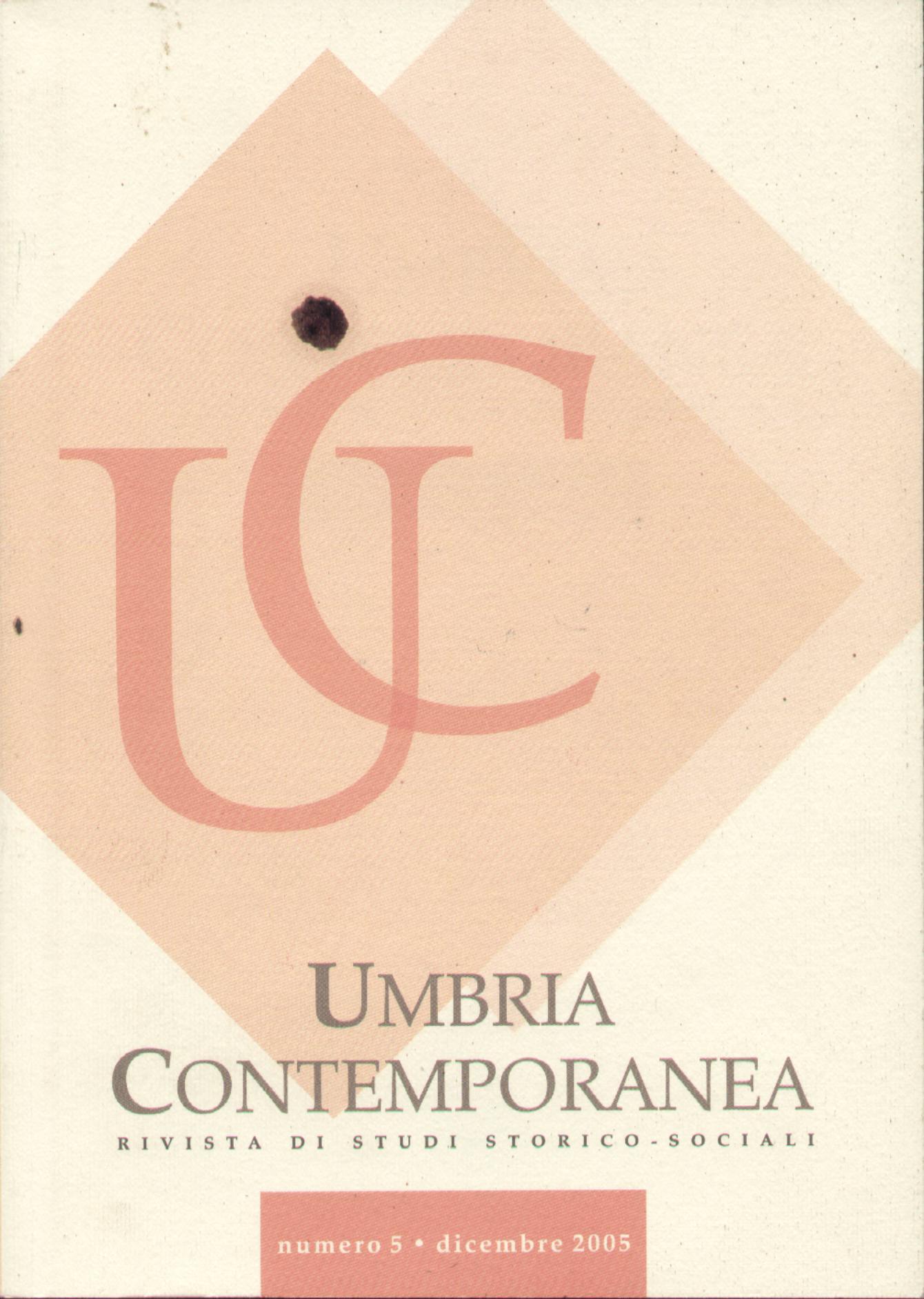 Umbria contemporanea, Anno I, n. 1