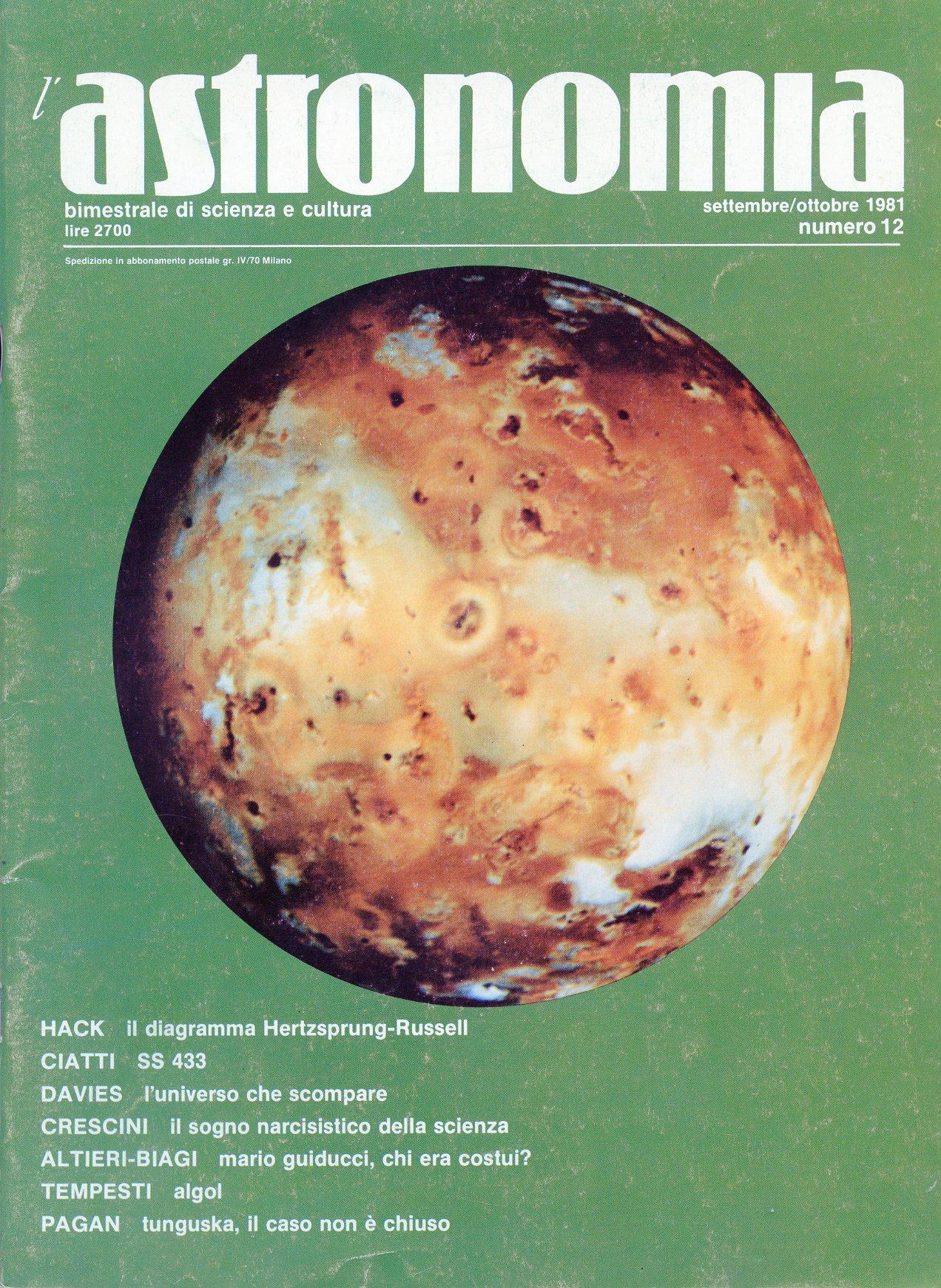 L'Astronomia, Anno I...