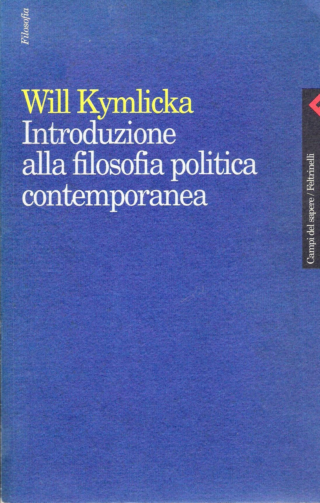Introduzione alla filosofia politica contemporanea