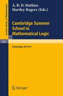 Cambridge summer school in mathematical logic