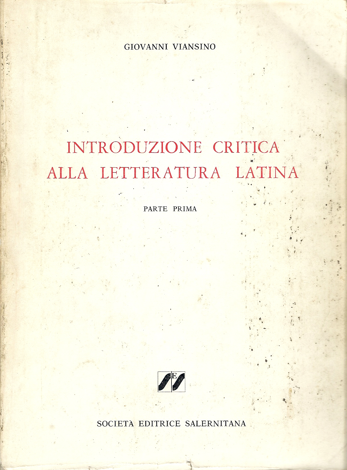 Introduzione critica alla letteratura latina
