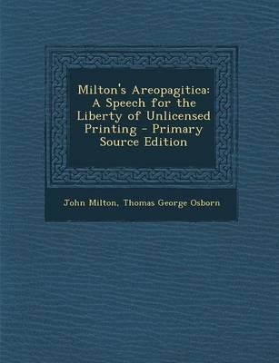 Milton's Areopagitica