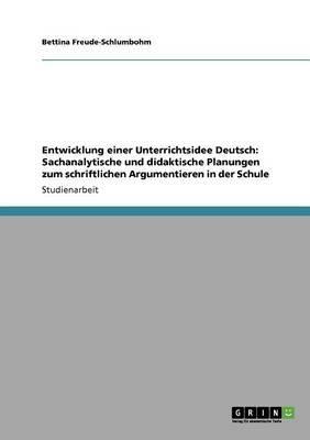 Entwicklung einer Unterrichtsidee Deutsch