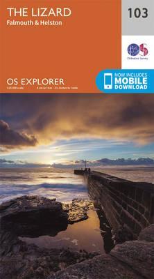 OS Explorer Map (103) Lizard, Falmouth and Helston