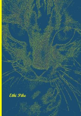 Ethi Pike Tabby Yellow Blue Notebook