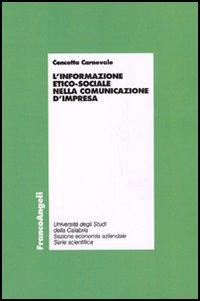 L' informazione etico-sociale nella comunicazione d'impresa
