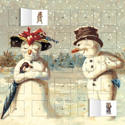 Mr & Mrs Snowman Calendar With Stickers