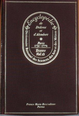 Encyclopédie, Tome XIII