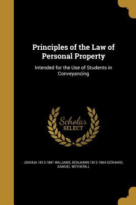 PRINCIPLES OF THE LAW OF PERSO