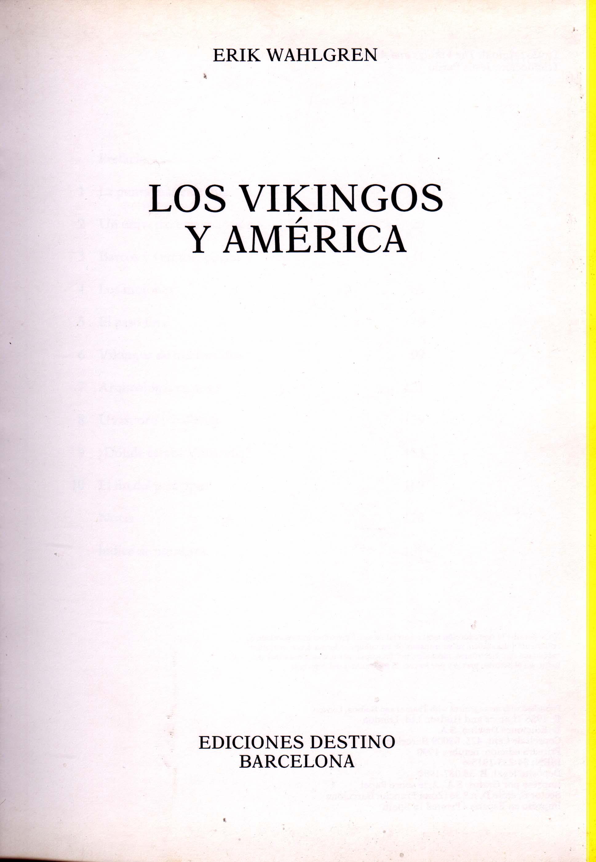 Los Vikingos y America