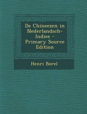 de Chineezen in Nederlandsch-Indiee
