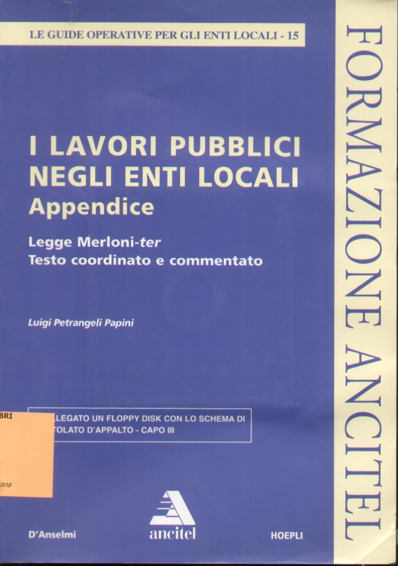 I lavori pubblici negli enti locali