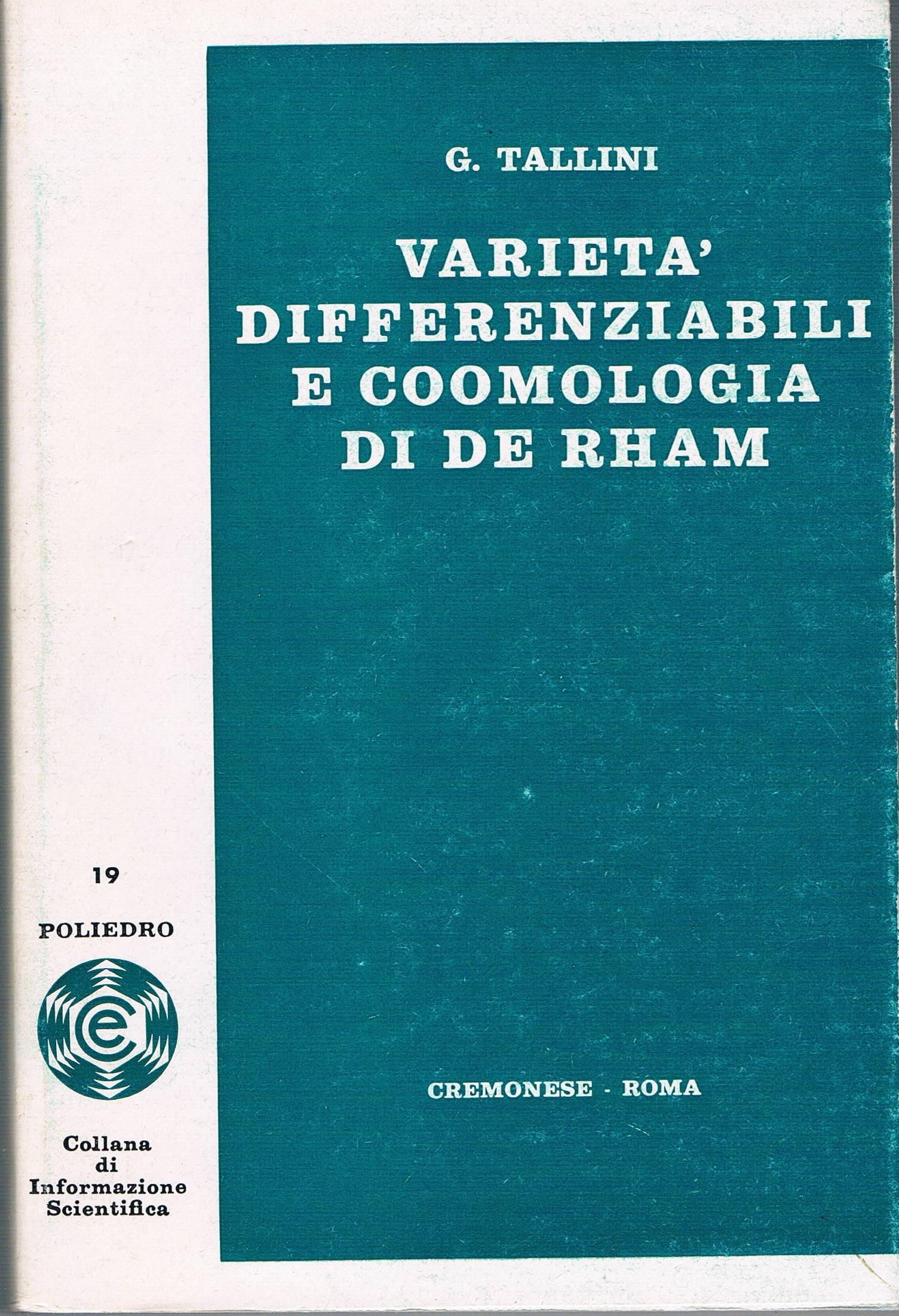 Varietà differenziabili e coomologia di de Rham