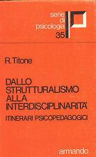 Dallo strutturalismo alla interdisciplinarità