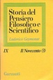 Cover of Storia del pensiero filosofico e scientifico/Il Novecento (3)