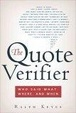 Cover of The Quote Verifier
