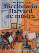 Cover of Diccionario Harvard de la música